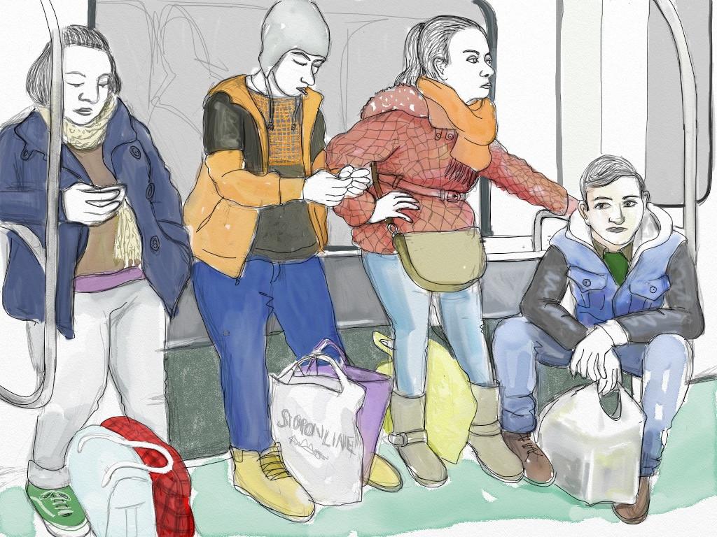 Фото голая в московском метро 25 фотография