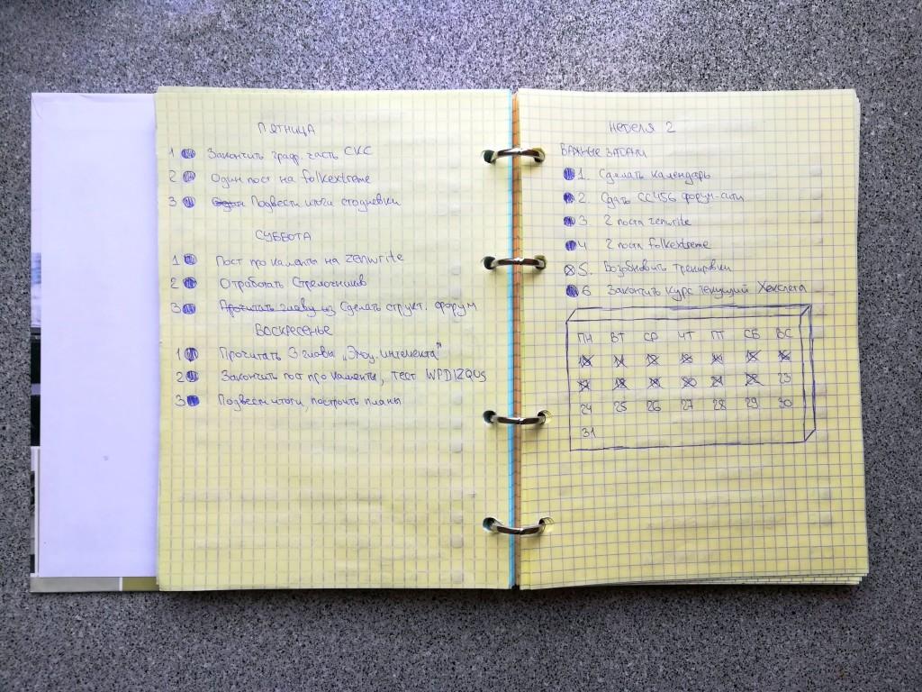 Техника трех целей, или Как я снова полюбил планирование